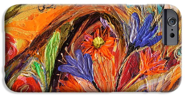 Flower Of Life iPhone Cases - Artwork Fragment 70 iPhone Case by Elena Kotliarker
