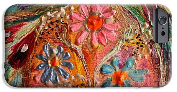 Flower Of Life iPhone Cases - Artwork Fragment 72 iPhone Case by Elena Kotliarker