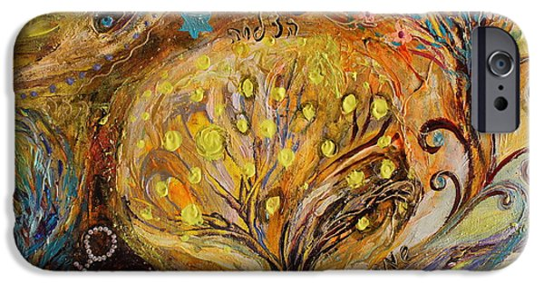 Flower Of Life iPhone Cases - Artwork Fragment 74 iPhone Case by Elena Kotliarker