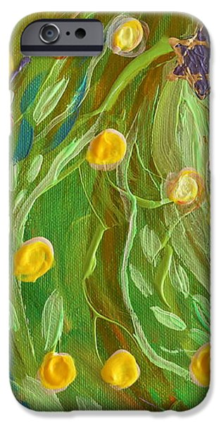 Artwork Fragment 81 iPhone Case by Elena Kotliarker