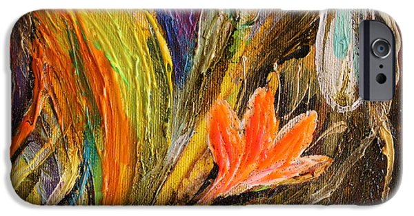 Flower Of Life iPhone Cases - Artwork Fragment 98 iPhone Case by Elena Kotliarker