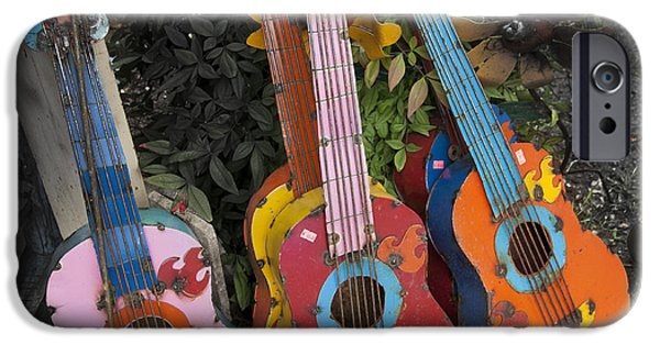 Ukelele iPhone Cases - Arty Yard Guitars iPhone Case by Greg Kopriva