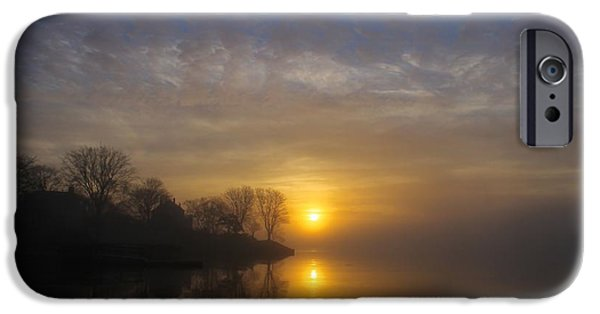Ocean Sunset iPhone Cases - As another morning begins In the eyes of the onlooker iPhone Case by Dave Lahn