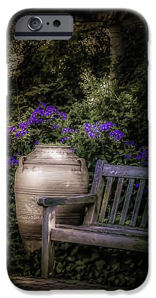 Garden Scene Photographs iPhone Cases - As Evening Falls iPhone Case by Julie Palencia