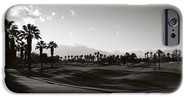 Monotone Photographs iPhone Cases - As Shadows Spread Across the Land iPhone Case by Laurie Search