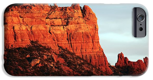 Northern Arizona iPhone Cases - As the Sun Sets in Sedona iPhone Case by John Rizzuto