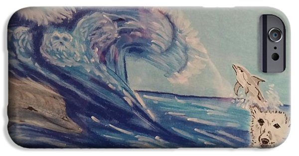 Seagull Pastels iPhone Cases - As we view each others tenacity iPhone Case by Robert Pikula