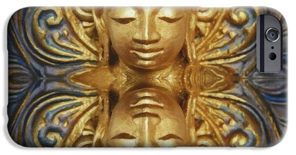 Buddhism Digital iPhone Cases - As Within So Without iPhone Case by Tim Gainey