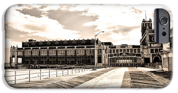 Asbury Park iPhone Cases - Asbury Park Boardwalk and Convention Center iPhone Case by Bill Cannon