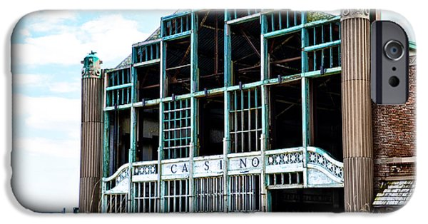 4th July iPhone Cases - Asbury Park Casino - My City in Ruins iPhone Case by Bill Cannon