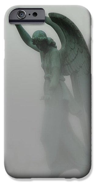 Surrealism Digital Art iPhone Cases - Ascending iPhone Case by Jack Zulli