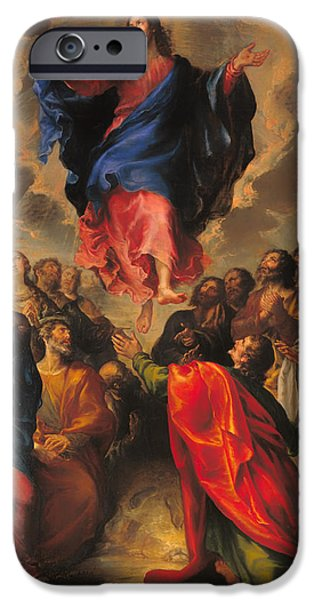 Christian work Paintings iPhone Cases - Ascension iPhone Case by Francisco Camilo