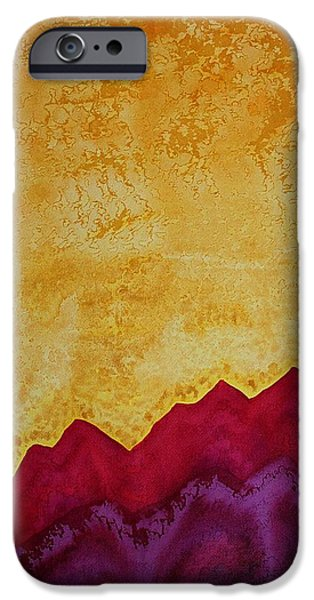Printmaking Paintings iPhone Cases - Ascension original painting iPhone Case by Sol Luckman