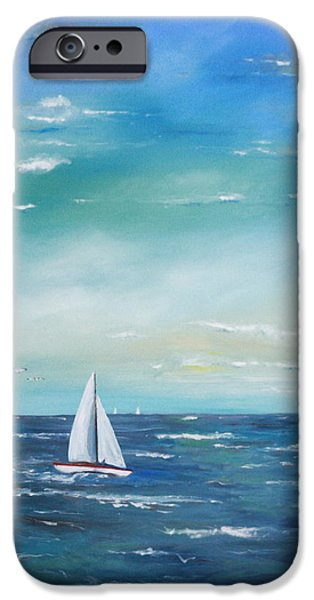 Sailing iPhone Cases - Asea iPhone Case by Kathleen Hartman