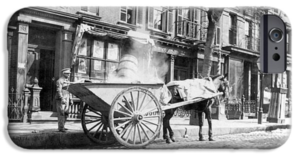 Unknown iPhone Cases - Ash Cart New York City 1896 iPhone Case by Unknown