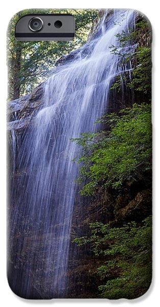 Overhang iPhone Cases - Ash Cave Waterfall 2 iPhone Case by Ron Grafe