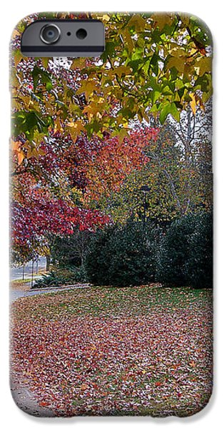 Asheville in the Fall iPhone Case by Walt  Baker