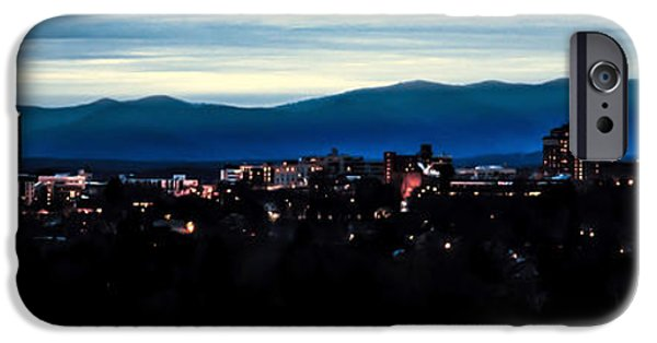 Asheville iPhone Cases - Asheville Skyline iPhone Case by Karen Wiles