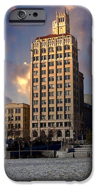 Ashevilles Jackson Building iPhone Case by John Haldane
