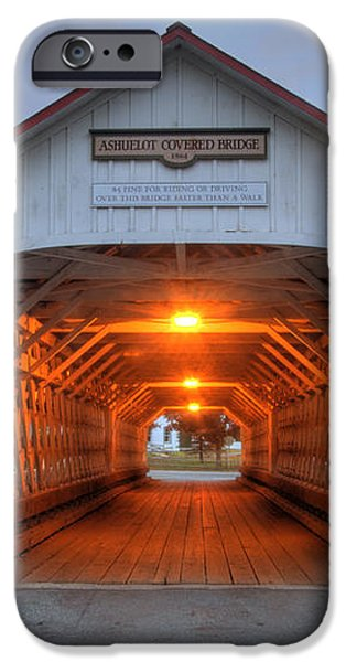 Ashuelot Covered Bridge iPhone Case by Joann Vitali