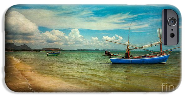 Coastline Digital Art iPhone Cases - Asian Beach iPhone Case by Adrian Evans