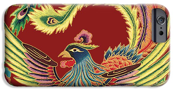 Nature Study Digital Art iPhone Cases - Asian Bird-JP2141 iPhone Case by Jean Plout