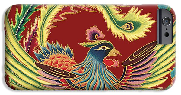 Nature Study Digital Art iPhone Cases - Asian Bird-JP2144 iPhone Case by Jean Plout