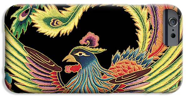 Nature Study Digital Art iPhone Cases - Asian Bird-JP2145 iPhone Case by Jean Plout