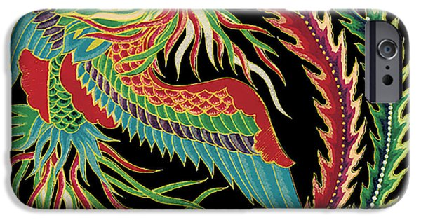 Nature Study Digital Art iPhone Cases - Asian Bird-JP2147 iPhone Case by Jean Plout