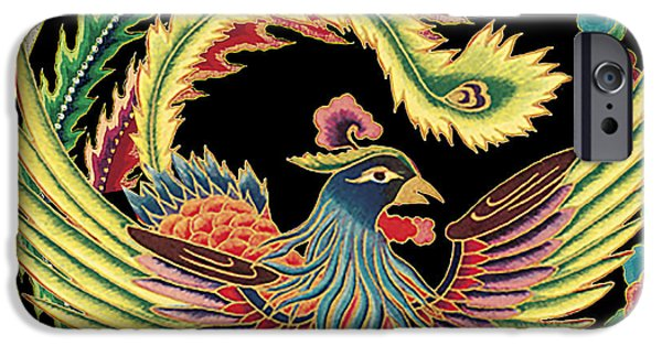 Nature Study Digital Art iPhone Cases - Asian Bird-JP2148 iPhone Case by Jean Plout