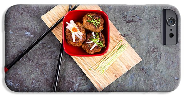 Chilli iPhone Cases - Asian meatballs 1 iPhone Case by Jane Rix