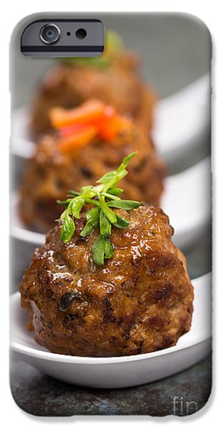 Chilli iPhone Cases - Asian meatballs iPhone Case by Jane Rix