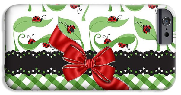 Ladybug iPhone Cases - Asiatic Ladybugs  iPhone Case by Debra  Miller