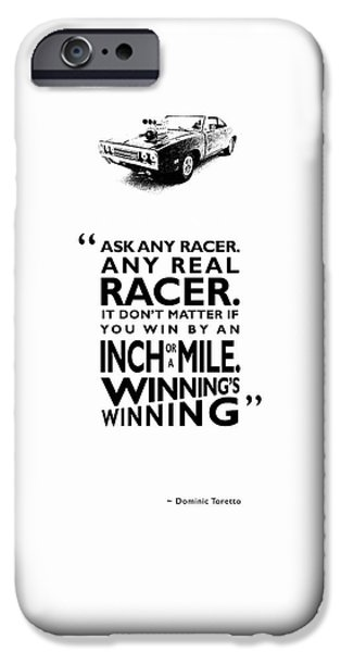 Fast iPhone Cases - Ask Any Racer iPhone Case by Mark Rogan