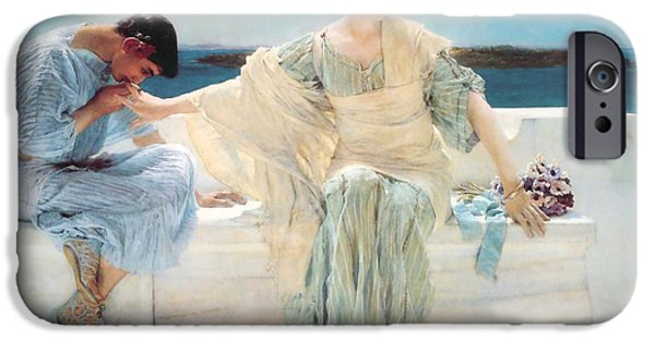 I Ask iPhone Cases - Ask Me No More iPhone Case by Lawrence Alma-Tadema