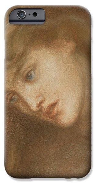 Aspecta Medusa iPhone Case by Dante Charles Gabriel Rossetti