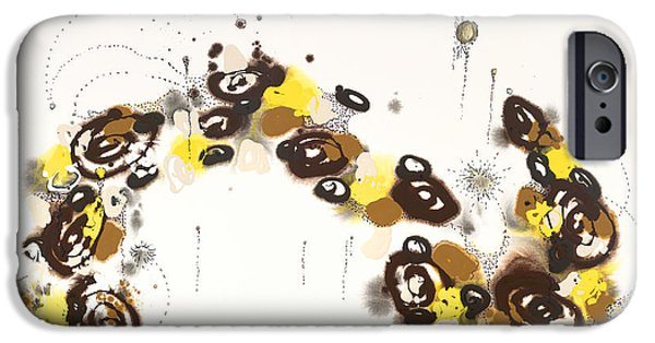 Raw Sienna iPhone Cases - Aspen Celebration #3 iPhone Case by Nadine Rippelmeyer