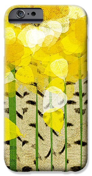 Abstract Digital Mixed Media iPhone Cases - Aspen Colorado Abstract Square iPhone Case by Andee Design