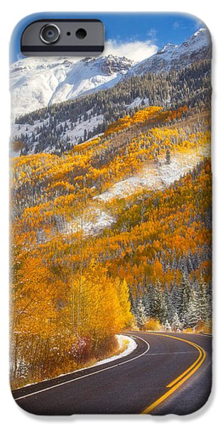 Colorado Framed Prints iPhone Cases - Aspen Highway iPhone Case by Darren  White