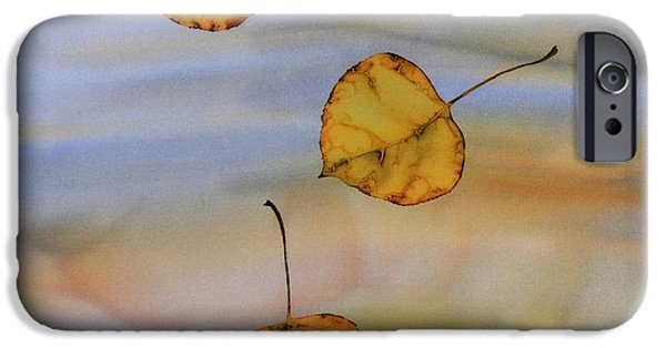 Wax Tapestries - Textiles iPhone Cases - Aspen In Fall iPhone Case by Carolyn Doe
