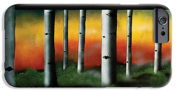 Airbrush Mixed Media iPhone Cases - Aspen iPhone Case by Breaking Art