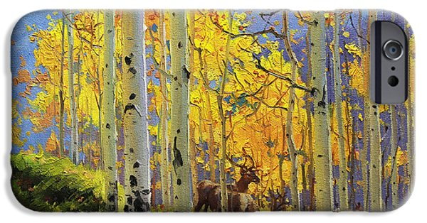 Misty Prints iPhone Cases - Aspen Kingdom iPhone Case by Gary Kim