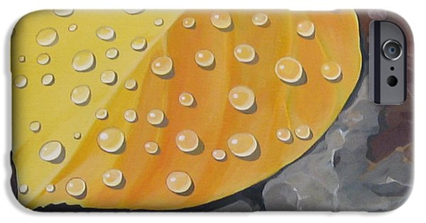 Botanical iPhone Cases - Aspen Rain iPhone Case by Hunter Jay