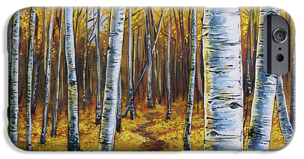 Fallen Leaf iPhone Cases - Aspen Trail iPhone Case by Aaron Spong