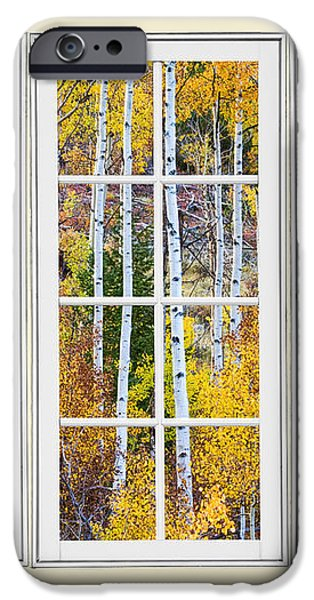 Aspen Tree Magic Cream Picture Window View 3 iPhone Case by James BO  Insogna