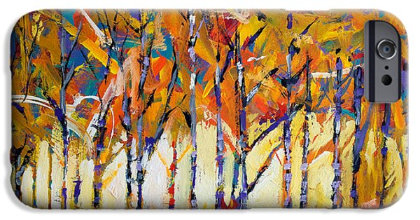 Aspen iPhone Cases - Aspen Trees iPhone Case by Ron and Metro