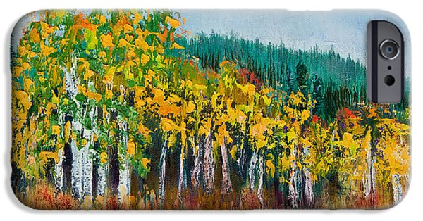 Business Paintings iPhone Cases - Lothlorien iPhone Case by Margaret Bobb