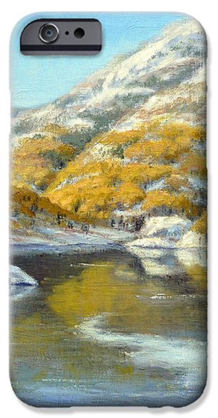 Aspens First Snow iPhone Case by Rick Hansen