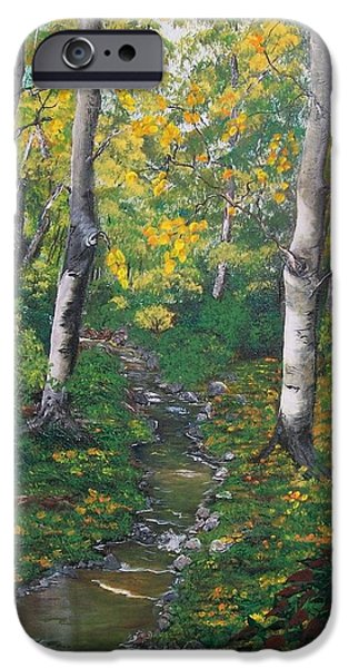 Fall iPhone Cases - Aspens in the Fall iPhone Case by Sharon Duguay