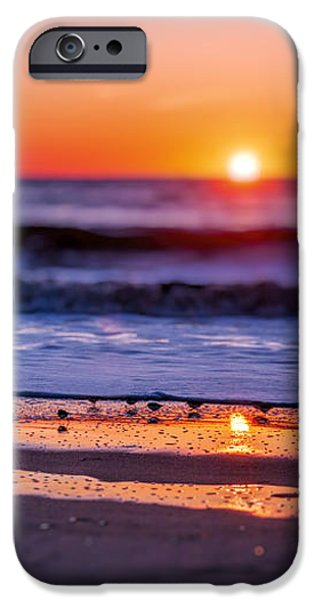 Ocean Sunset iPhone Cases - Assateague Sunrise - Ocean - Virginia iPhone Case by Sharon Norman